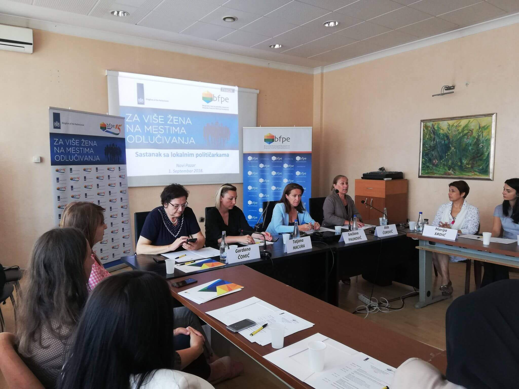 For more women in decision making: with women politicians in Novi Pazar