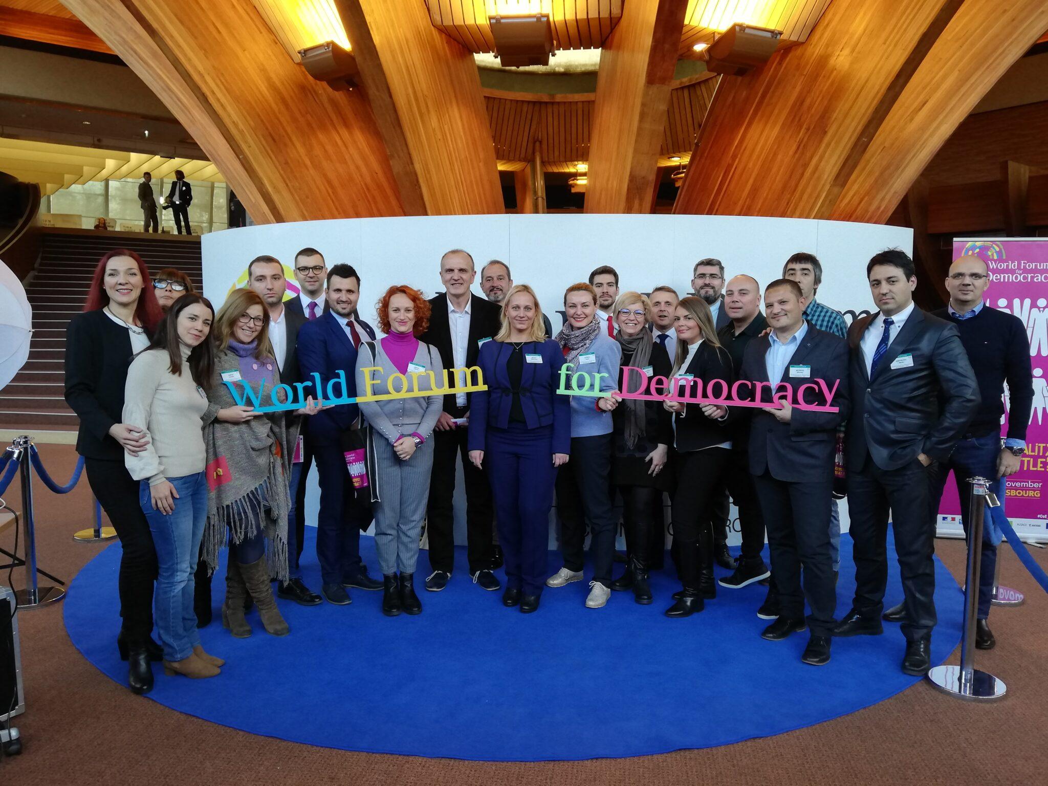 BFPE alumni @ World Forum for Democracy 2018