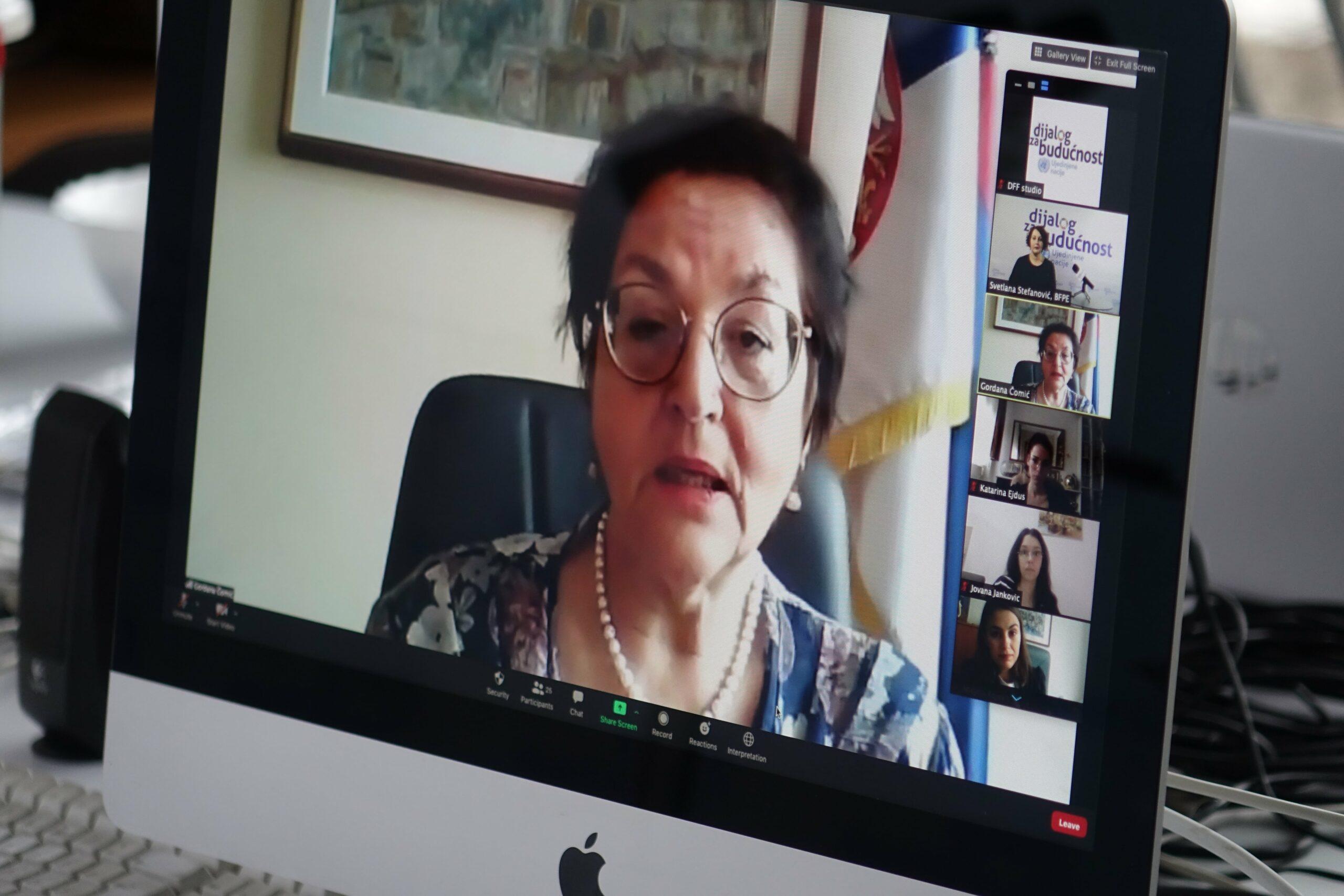 Dialogue with Minister Gordana Comic
