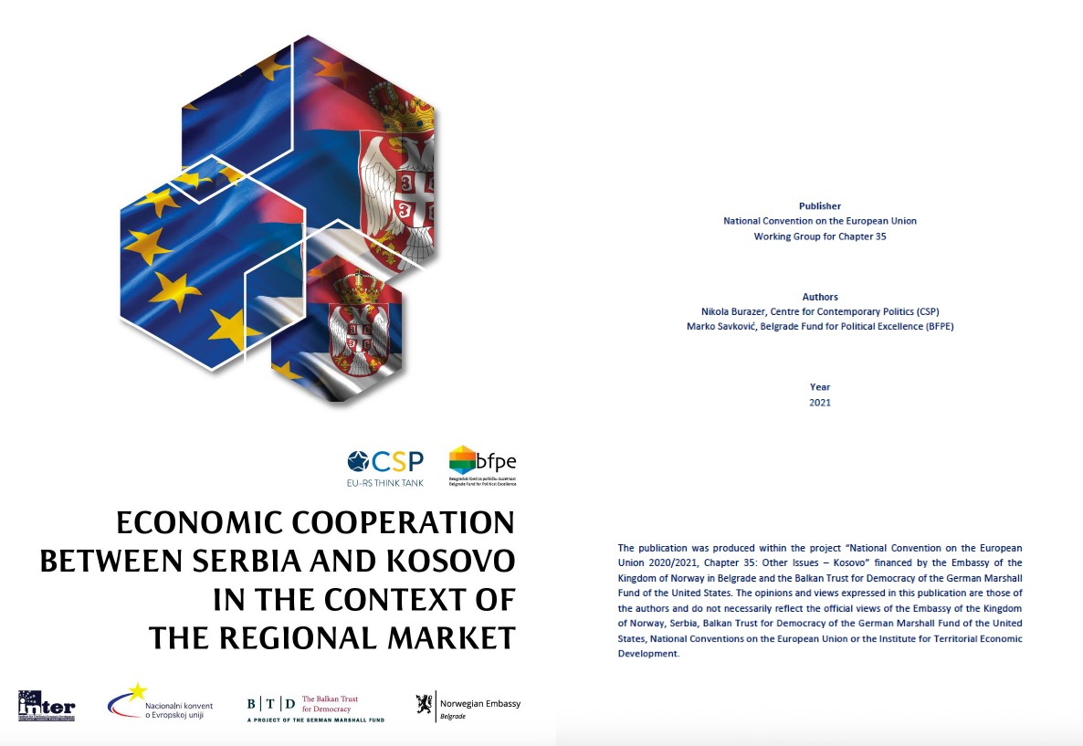 """""""Economic cooperation between Serbia and Kosovo in the context of the regional market"""""""